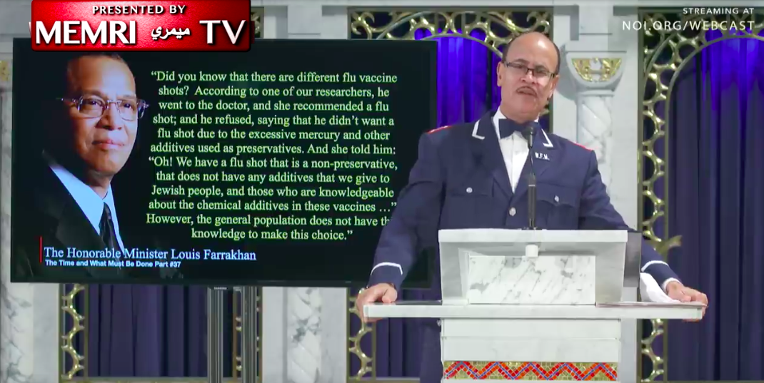 Nation of Islam Leader Uses Vaccines to Peddle Antisemitism