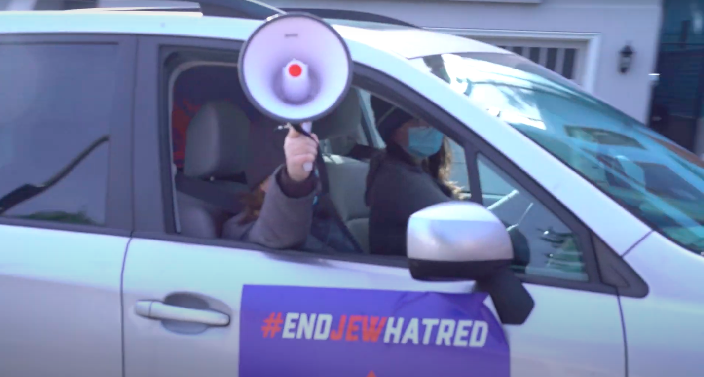 'End Jew Hatred' blasts recordings of Holocaust denial tweets outside Jack Dorsey's home