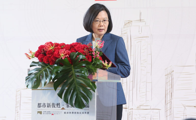 President Tsai Delivers Churchillian Speech on Taiwan's National Day